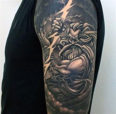 zeus tattoo meaning 80 zeus designs for a thunderbolt of ideas