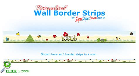 angry birds bedroom wall border strips personalised with any boys or name ebay