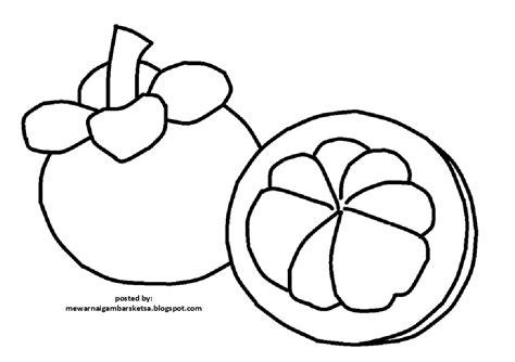 mewarnai gambar mewarnai gambar sketsa buah manggis 1