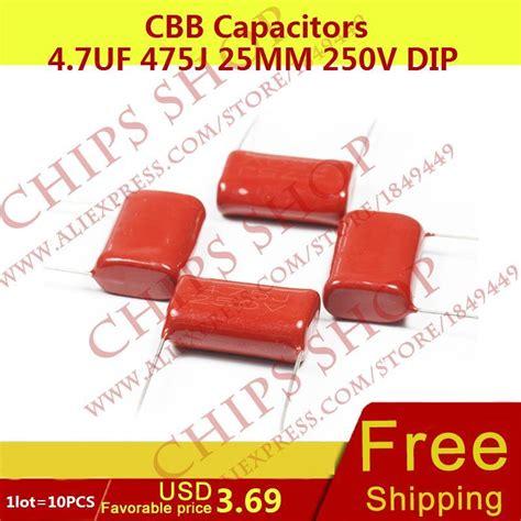 Capacitor 475 J 4 7uf 2000v Kapasitor 1lot 10pcs cbb capacitors 4 7uf 475j 25mm 250v dip 4700nf 4700000pf in capacitors from