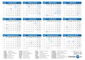 Calendario 2018 Numero Settimane Calendario 2016