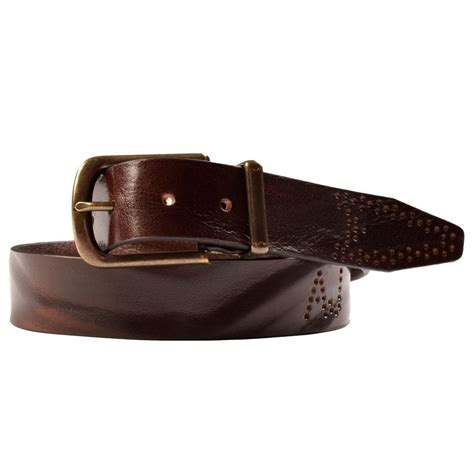 armani z6151p9 brown leather belt armani