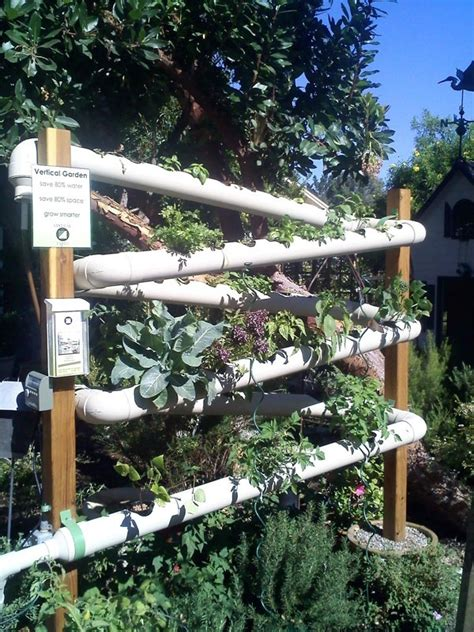 vertical pvc pipe vegetable garden vertical veggie garden idea i like it vege garden