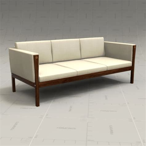 hans wegner sofa ch163 hans wegner sofa 3d model formfonts 3d models textures