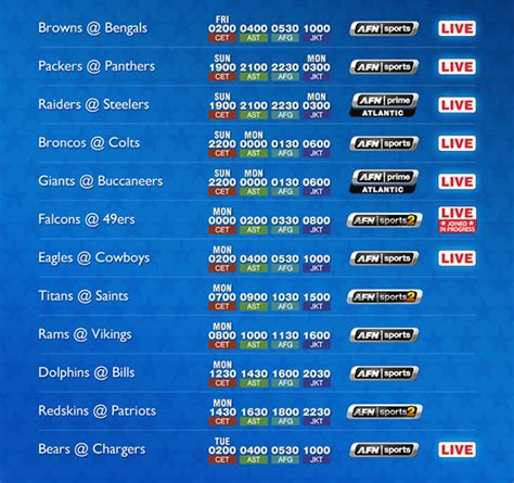 Section V Football Schedule by Nfl Football Schedule Week 9 Nov 5 9 And Ncaa College