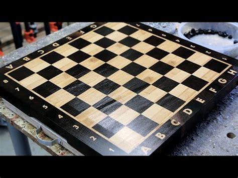 making  chess  grain cutting board youtube