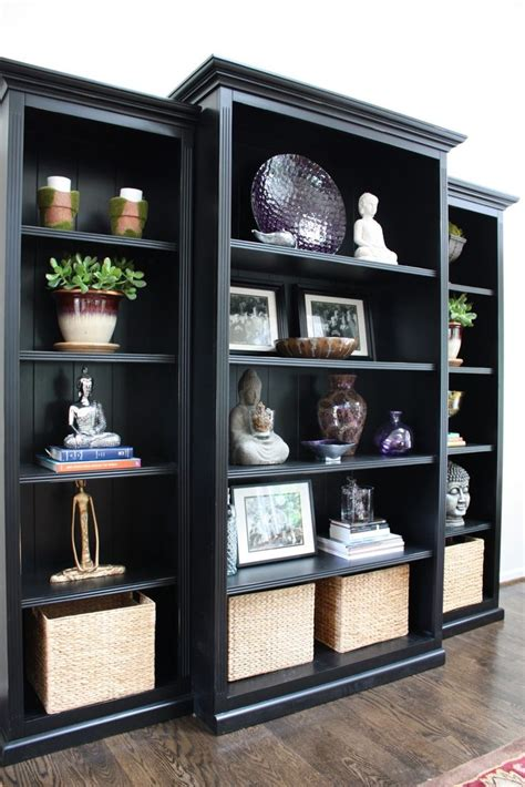 25 best ideas about black bookcase on