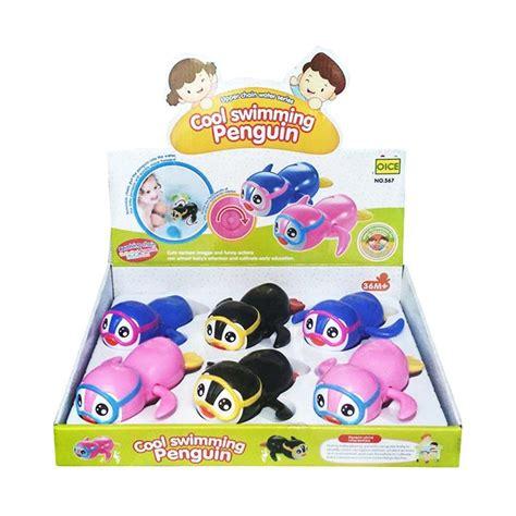Mainan Anak Penguintrap jual toylogy cool swiming penguin mainan bayi pinguin berenang multicolor harga