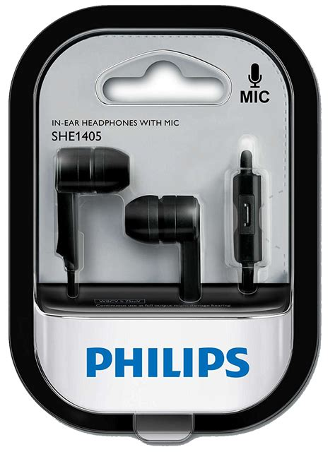 Philips She 3855 Bk Headset Black by Price Shop Philips She1405bk 94 In Ear Headphone Headset