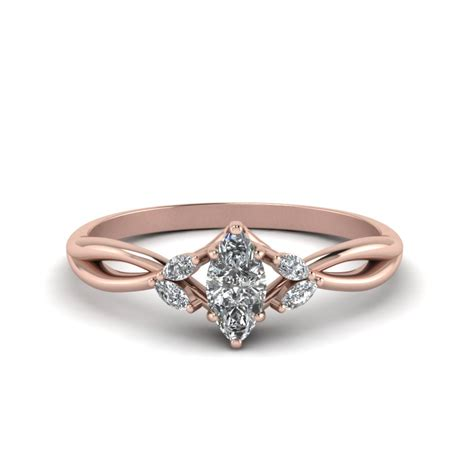 Marquise Engagement Ring by Twisted Marquise Cut Ring In 14k Gold