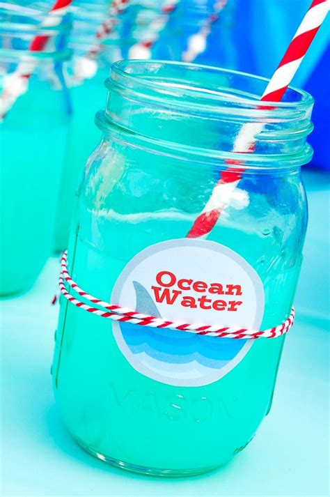 water themed names ocean water blue punch recipe blue punch shark party