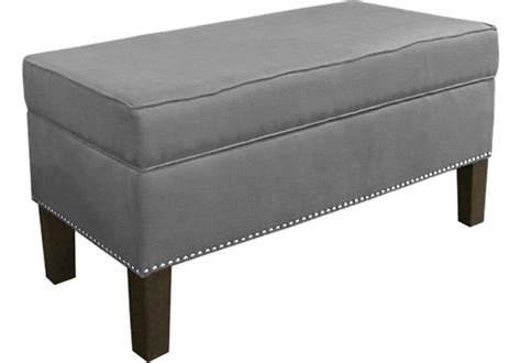 accent storage bench lucy lane gray storage bench accent benches