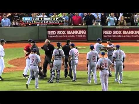 yankees red sox benches clear 2011 07 08 benches clear in fenway doovi