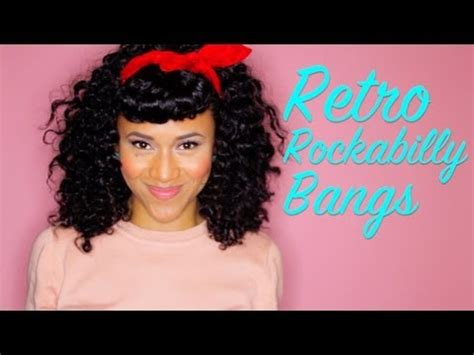 rockabilly bang curl retro rockabilly pin up look w faux bangs 4 curly hair