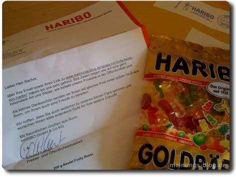 Vielen Dank Und Mit Freundlichen Grüßen Brief Dickes Danke An Haribo Das Meinungs