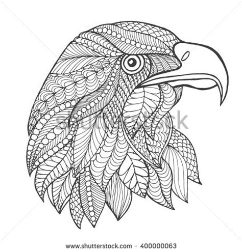 eagle mandala coloring pages totem stock photos images pictures shutterstock