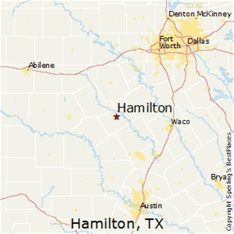 hamilton texas map best places to live in hamilton texas