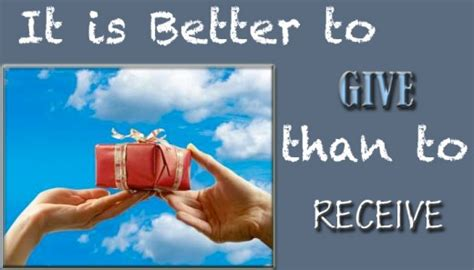how to give a better it is better to give than to receive