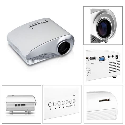 Mini Portable Hd Led Projector Pc Laptop Kode mini portable home theater multimedia hd led lcd projector pc laptop usb av vga ebay