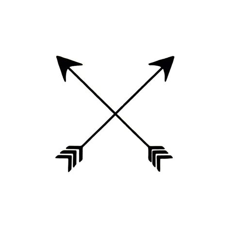crossed arrows temporary tattoo fake crossed arrows tattoo