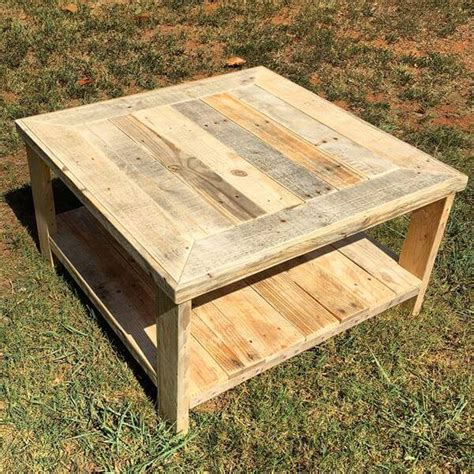 Pallet Wood Coffee Table Pallet Wood Square Coffee Table Pallet Furniture Diy