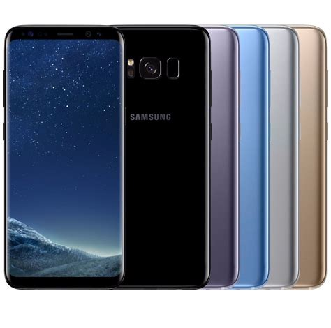 Amsung Galaxy S8 Black samsung galaxy s8 sm g950fd dual sim factory unlocked black gold gray blue ebay