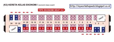 denah tempat duduk kereta api krakatau kereta api ekonomi bogor sukabumi suasana tertib workshop