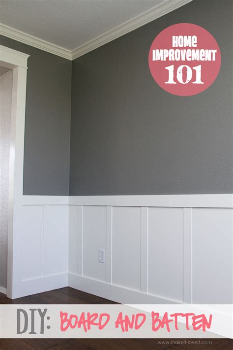 Board And Batten Wainscoting Diy by Home Improvement Diy Board And Batten