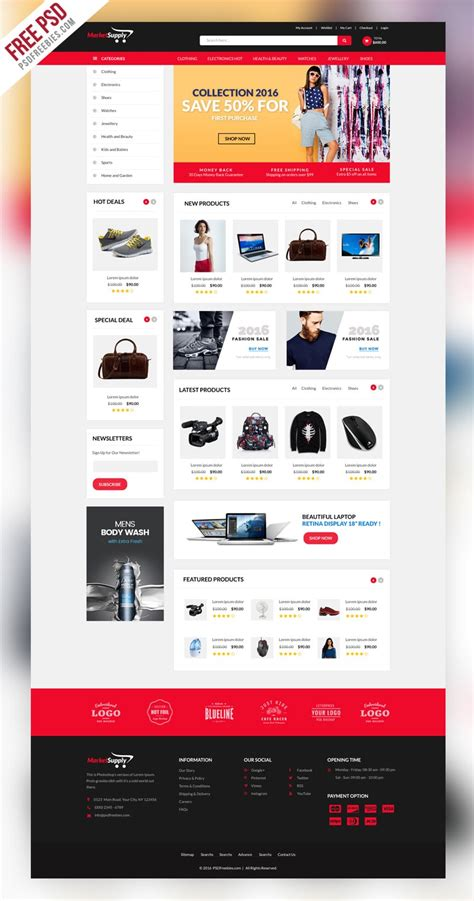 Free Ecommerce Web Templates Psd 187 Css Author Free Ecommerce Website Templates