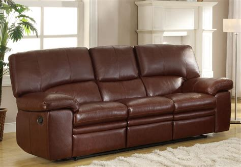 Homelegance Kendrick Reclining Sofa Set Brown Bonded Brown Leather Recliner Sofas