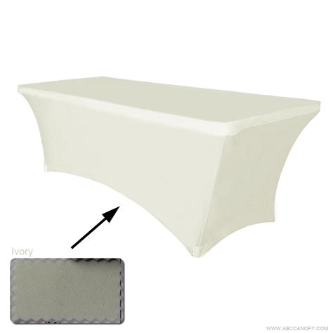stretching table abccanopy tablecloth 6 ft fitted polyester tablecloth