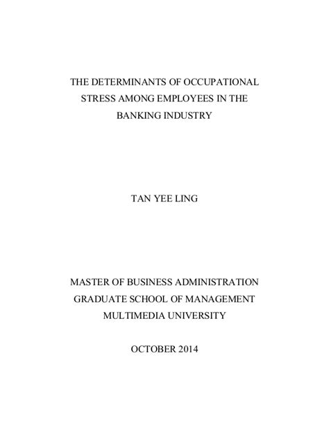 Mba Thesis by Mba Thesis