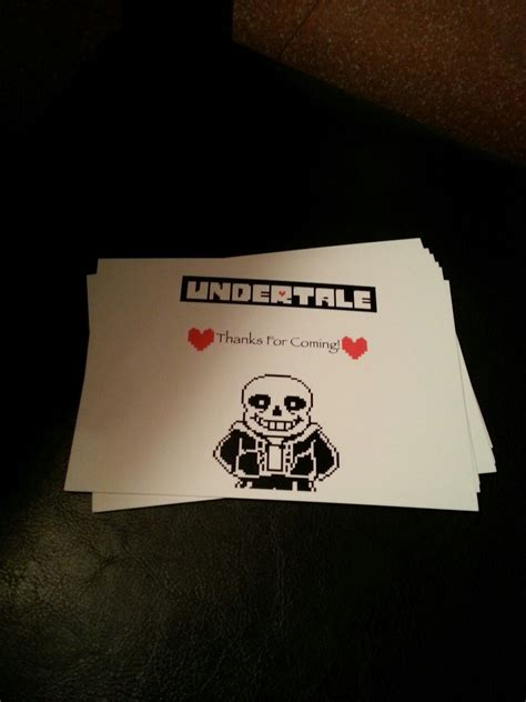 Undertale Birthday Card
