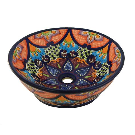 Mexican Ceramic Sink by 130 V Sink Bathroom Talavera Mexican Vessel Ceramic Ebay
