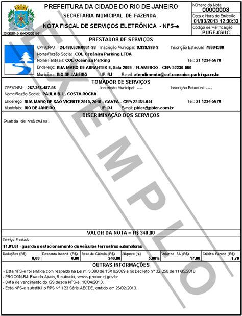 layout da chave da nfe nota carioca nota fiscal de servi 231 os eletr 244 nica nfs e