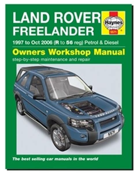 how to download repair manuals 2006 land rover range rover on board diagnostic system freelander 1 haynes owners workshop manual