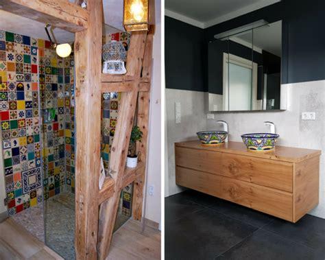 Badezimmer Unterschiedliche Fliesen by Mexikanische Badezimmer Moderner Stil Trifft Mexikanische