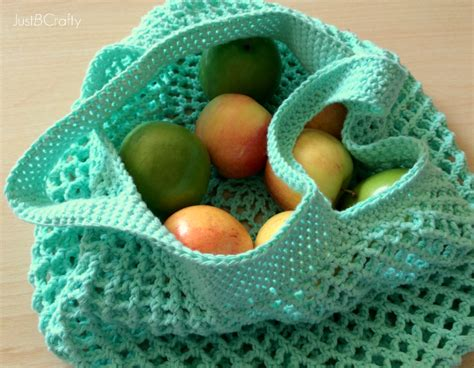 crochet pattern shopping tote crochet mesh grocery tote pattern just be crafty