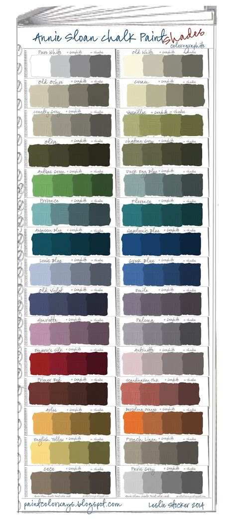 paint shades colorways sloan chalk paint swatch book part 2 shades