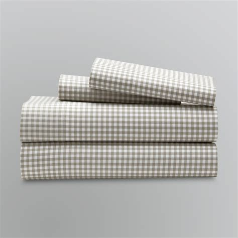 Gingham Bedding Sets Cannon Gingham Sheet Set Home Bed Bath Bedding Sheets