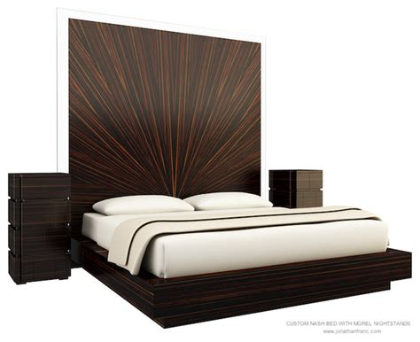 Modern Bed With Drawers by Nash Bed With Drawers Morel Nightstands Modern