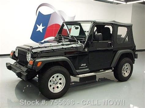 2006 Jeep Wrangler Soft Top Find Used 2006 Jeep Wrangler Se 4x4 Soft Top 6spd Trail