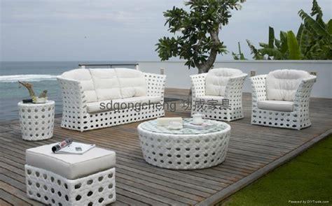 2013 aluminum white pe rattan sofa set gongcheng