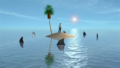 sinking boat surrounded by sharks stock video of business man surrounded by sharks man in