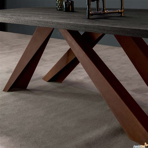 tavolo bonaldo big table tavolo big table acciaio corten bonaldo