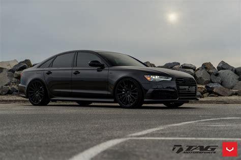 Audi A6 Schwarz by All Black Audi A6 Quattro On Vossen Vfs2 Rims Carid