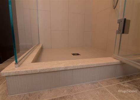 Tile Shower Curb tile shower renovation c 233 ramiques hugo inc