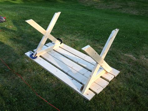 picnic table with separate benches plans picnic table with detached benches treenovation