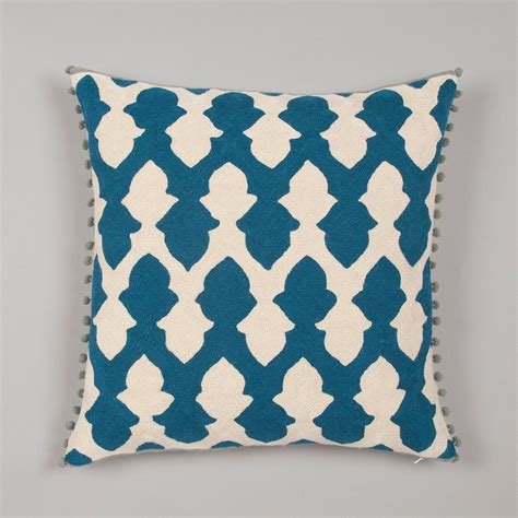 cusion covers lattice cushion cover teal ecru niki jones