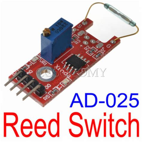 Ky 025 Reed Switch Magnetic Sensor Module For Arduino Avr Pic Baru ad 025 reed magnetic switch sensor module with lm393 voltage comparator ic for electronic brick